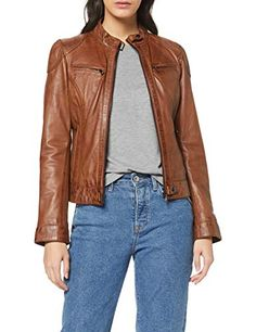 Oakwood Lina Blouson Marron (Cognac X-Small (Taille Fabricant: XS) Femme Red Leather, Leather Jacket, Jackets, Fashion, Leather Jackets, Zipper Pulls, Studded Leather Jacket, Down Jackets, Moda