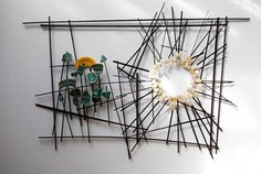 Wayne Edge - Greener on the Other Side wenge, shells and pottery shards, 48x60x4 2011