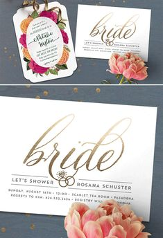 Celebrate the bride to be! Showcase her style with a bridal shower invitation from Minted.com