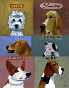 Mark Ulriksen's Dogs | Illustration Friday