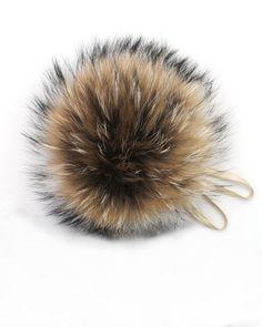 2439f8e5b8b1 Real Fur Pom Pom Hat Raccoon Pompom Fox Fur Pompom Large Pom Poms Fur Ball  Detauchable