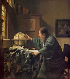 The Astronomer. Jan Vermeer. 1668. One of the 36 paintings definitely attributed to him. Located in the Louvre.