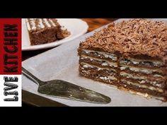 YouTube Greek Desserts, Greek Recipes, No Bake Desserts, Dessert Recipes, No Bake Biscuit Cake, Koulourakia Recipe, Chocolate Sweets, Pudding Cake, Happy Foods