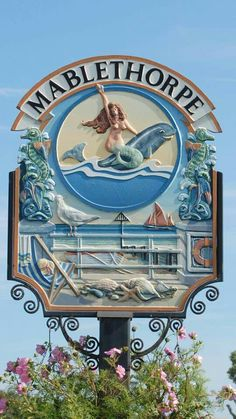 Mablethorpe town crest, Lincolnshire, England
