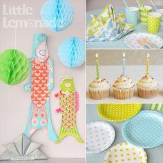 子供の日・節句パーティー スタイリング Designed by Little Lemonade Boys Day, Hi Boy, Colour Images, Party Fashion, Koi, Origami, Wall Decor, Birthday, Coloring