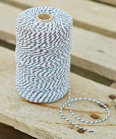 Take a look at this Brown & White Stripe Twine by Expect Personality on #zulily today! BUY THIS! You would be surprised just how much you will use.