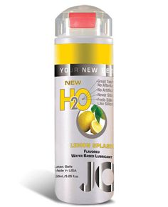 System Jo H2o Flavored Lubricant - 5.25 Oz Lemon Splash This fruit flavored lube will keep you coming back for more! JO H20 Flavored Personal Lubricant is non toxic and non-staining. This lube is 100% latex safe and manufactured under strict U.S. FDA guidelines to enhance your pleasure like no other water based flavored lubricant. JO H20 Flavored Lubricants are great tasting with no aftertaste and no artificial sweeteners. This is the only flavored lubricant that feels silky smooth
