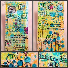 Gelliprints on recycled cardboard using my new paperartsy stamps