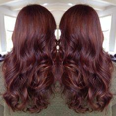 Finally went with red hair! Dark copper golden base with light copper golden balayage lights.