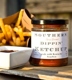 Southern Dippin' Ketchup - 2 Pack by Elbow Foods on Scoutmob Shoppe. That'd be fresh natural tomato-based goodness with the addition of honey, whiskey, lime zest and spices. Take that, fancy frites!
