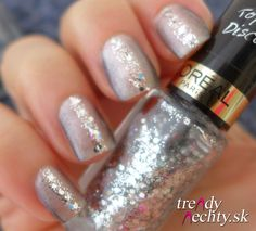 gray manicure, Nail art, Glitters nail