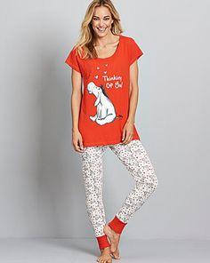 Eeyore Printed Pyjama Set | Simply Be