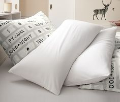 Jersey Pillowcases, 2 pieces, White - Brands For Less
