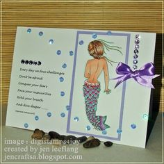 Four more of my drawings have been released in the Digistamps 4 Joy store , and this one is called MISTERI - MERMAID The image . My Drawings, Mermaid, Crafting, Challenges, Amp, Projects, Image, Blue Prints, Craft