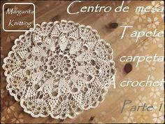 Centro de mesa, tapete, carpeta a crochet, parte 1 (diestro) - YouTube