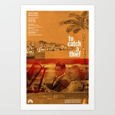 Hitchcock: To Catch A Thief Art Print by James Campbell Taylor - $16.00