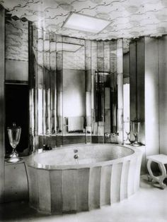 Deco bathroom design - black and white photo.jpg - Absolutely fabulous darling