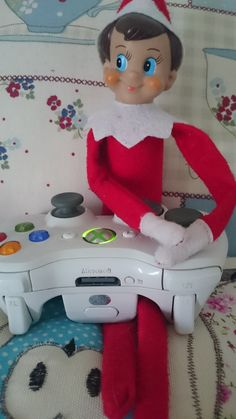 Elf loves playing on the Xbox