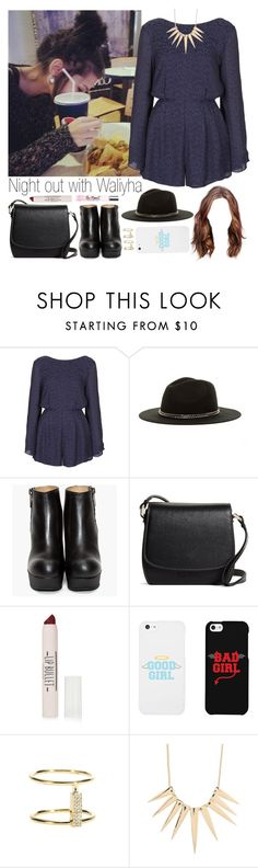 """Night out with Waliyha (sister-in-law)"" by ally-tommo ❤ liked on Polyvore featuring Topshop, August Hat, Brooks Brothers, LG, Ileana Makri and Sparkling Sage"