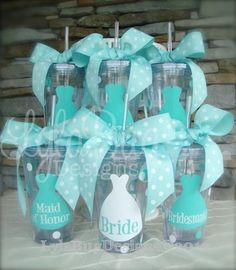 """For the bridesmaids to fill them with """"whatever"""" their hearts desire :) """"Bridal Party Gifts"""""""