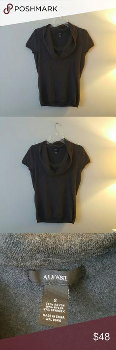 Alfani Rayon Sweater Top So beautiful and classy - great for Fall or Winter. Fits like a Medium. Alfani Tops