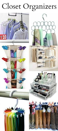 Closet Organizers perfect for any size space. Love the thought of adding cute fabric to pool noodles for boot stands. Organize Your Life, Organizing Your Home, Organising, Organization Ideas, Organizar Closet, Diy Spring, Closet Bedroom, Ikea Closet, Bathroom Closet