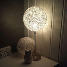 Laga egen lampeskjerm, cottonball-style :-P