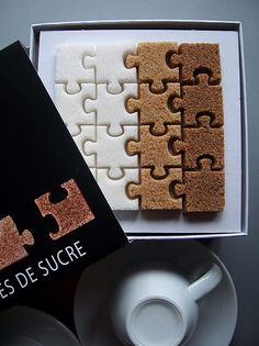 puzzle sugar cubes :)