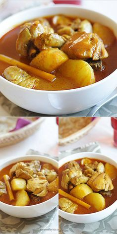 Easy chicken curry recipe that takes 30 minutes from start to finish. Chicken curry with potatoes and coconut milk is a common chicken curry in Malaysia. Rasa Malaysia, Easy Chicken Curry, Dessert Recipes, Desserts, Pretzel Bites, Quick Easy Meals, Coconut Milk, Potatoes, Dinner