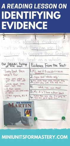 Reading Comprehension Mini Unit for Mastery- Finding Evidence Reading Comprehension Skills, Common Core Curriculum, I Can Statements, Text Evidence, Think Deeply, Literacy Stations, Mentor Texts, Readers Workshop, Reading Lessons