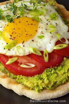 Avocado Breakfast Flatbreads http://www.thecafesucrefarine.com/2013/06/avocado-breakfast-flatbreads.html I am making this with Lavish pitas
