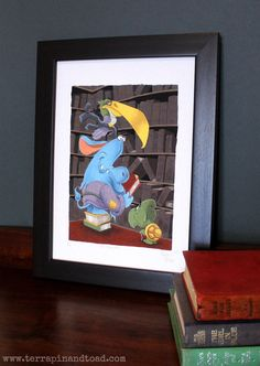 The Librarian Childrens Room Art Fine Art Print by Terrapin, Room Art, Toad, Limited Edition Prints, Nurseries, Kids Rooms, Art Forms, Teacher Gifts, Art For Kids