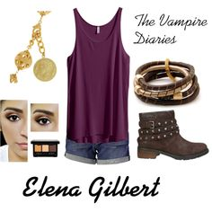 """""""Elena Gilbert"""" by milky-silvers on Polyvore"""