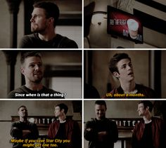 Barry & Oliver LOL #TheFlash #Arrow