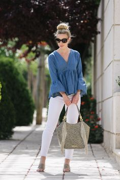 Chambray Bell Sleeve