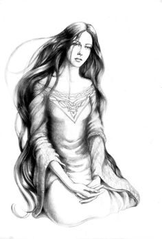 Luthien Tinuviel: The Nightingale of Doriath . art by tuuliky