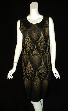 Antique 1920s Art Deco metallic Gold Embroidered by Bellasoiree, $1895.00