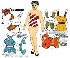 Bertha garden fashions* 1500 free paper dolls at Arielle Gabriel's International Paper Doll Society for other paper doll Pinterest pals...*