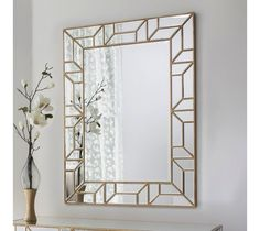 Verbier Mirror Beautiful rectangular mirror in a painted gold finish, perfectly matched to the verbier console… Wall Mirrors Rectangular, Small Mirrors, Decorative Mirrors, Framed Mirrors, Ornate Mirror, Painted Mirror Frames, Gold Mirrors, Vintage Mirrors, Framed Wall