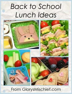 like the sandwich on a skewer Back To School Lunch Ideas - from GlorysMischief.com