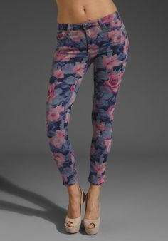 JOE'S JEANS Floral Print Crop in Tainted Rose at Revolve Clothing - Free Shipping!