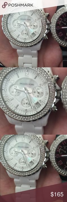 Authentic White Michael Kors Watch Women's authentic white and silver Michael Kors Watch. Paid $495 Like New!!! Worn Twice!! Michael Kors Accessories Watches