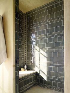 LOVE THIS TILE FOR A MASTER BATH Prairie Style Tile Design Ideas, Pictures, Remodel, and Decor - page 8