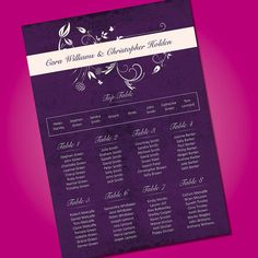 Wedding Table Plan Planner Seating Plan *Free Draft*Many Designs* | eBay