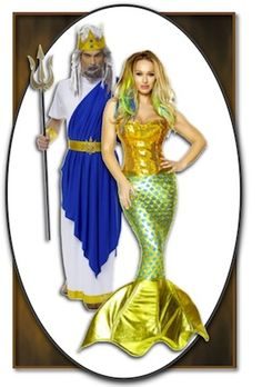 Halloween Costumes for Adult Couples. I want to do this and then anaya can be a mermaid too