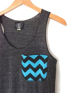 c35c7ae297613 Chevron Pocket Tank Top Women s Eco Friendly by busyspinningthread
