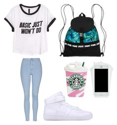 """Untitled #26"" by cravekiah ❤ liked on Polyvore featuring H&M, Topshop and NIKE"