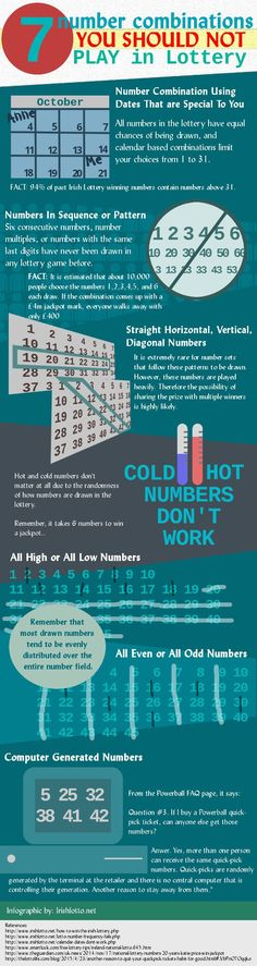 Infographic: 7 numbers you should not play in lottery