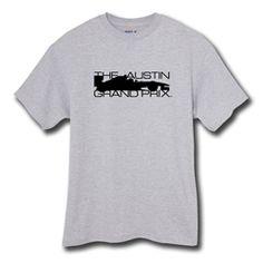 THE AUSTIN GRAND PRIX t-shirt in light grey heather $19.99