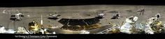 This is a cropped version of a five-position 360-degree panorama of the Chang'e-3, Yutu Rover landing site created by Ken Kremer and Marco Di Lorenzo. It was stitched from individual pictures released to a state-run China news outlet. The initial panoramic was then enhanced to improve contrast, lighting and uniformity, which revealed more detail.